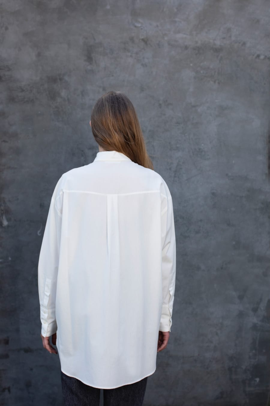 ORGANIC WHITE OVERSIZED SHIRT