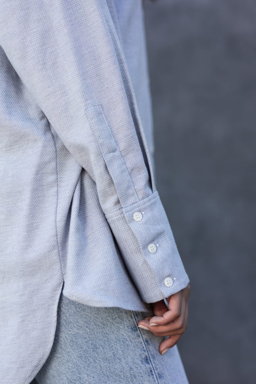 LIGHT BLUE OVERSIZED SHIRT