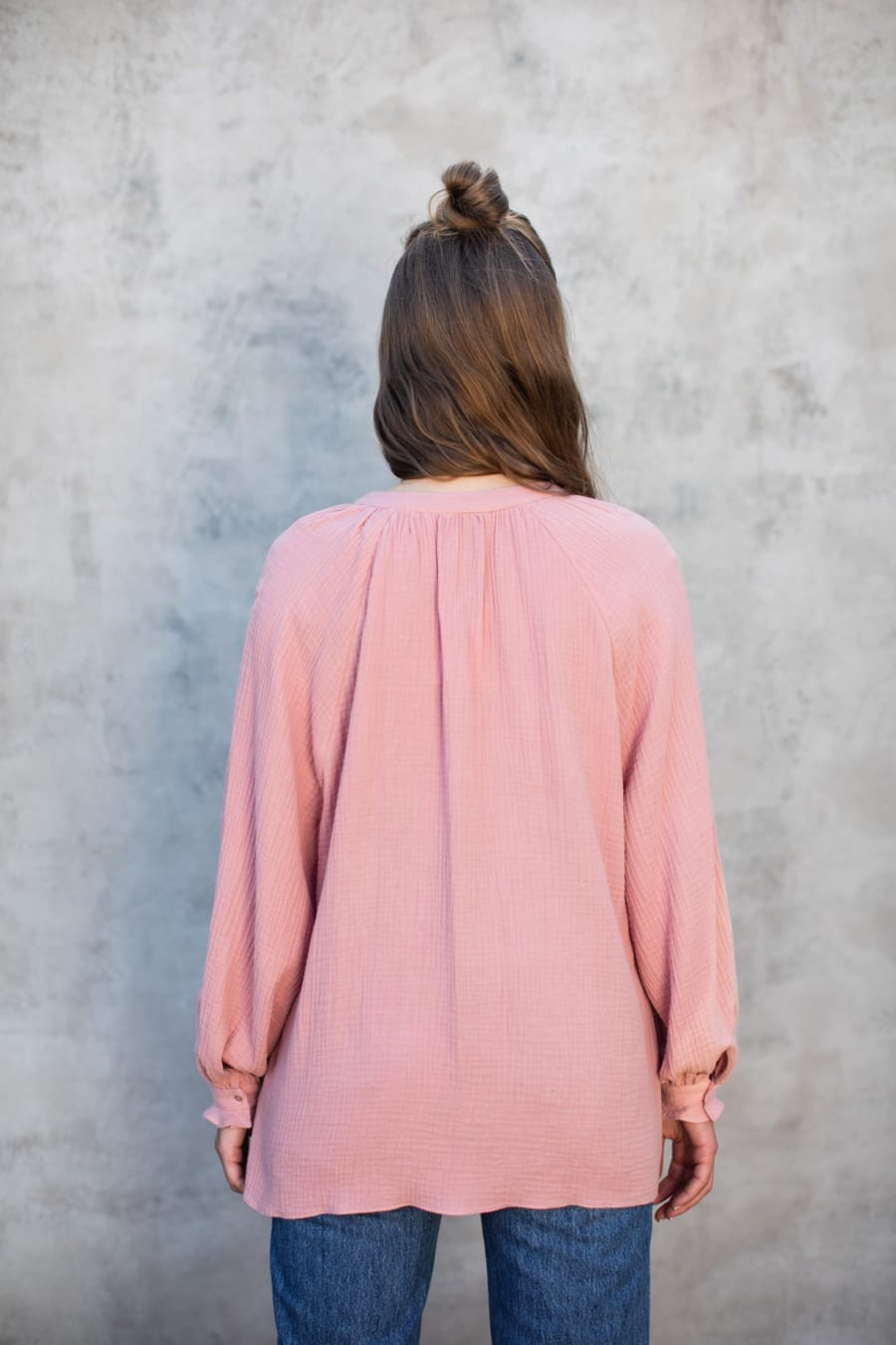 PINK ORGANIC FLOATING BLOUSE