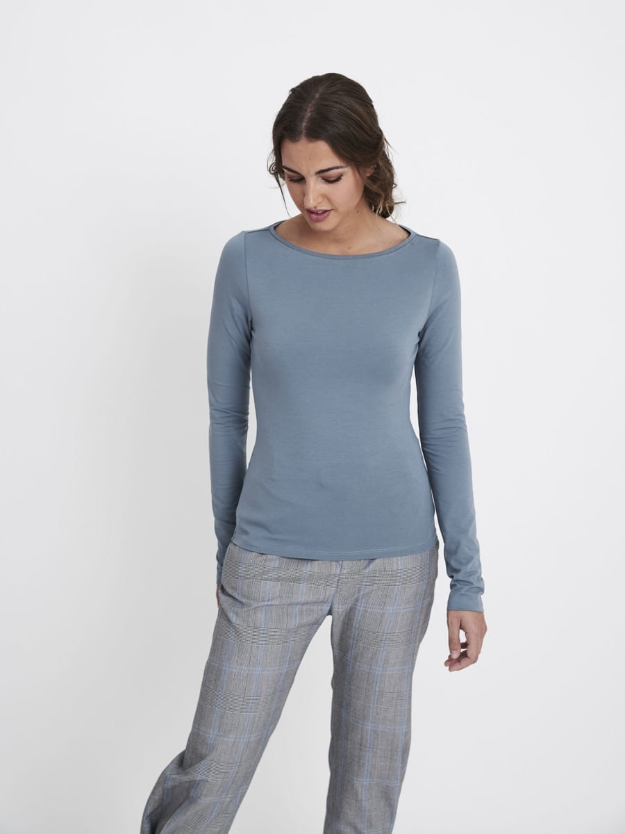 AIR BOAT NECK TOP