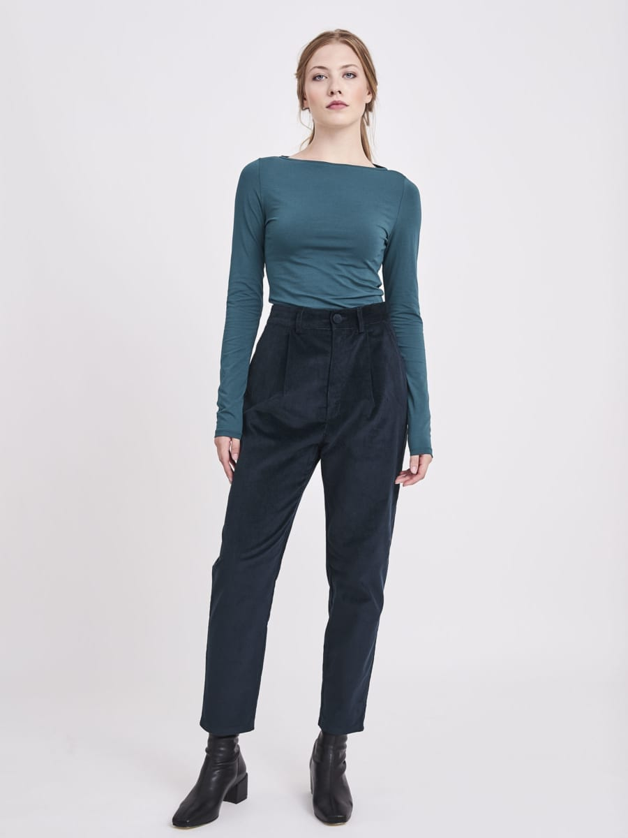 TEAL SLOUCHY TROUSERS